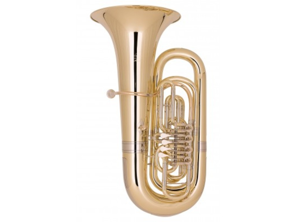 Tuba Bb Miraphone 495, Hagen, 4/4, Bell 450mm, 4-ventielen, Laquered, without etui