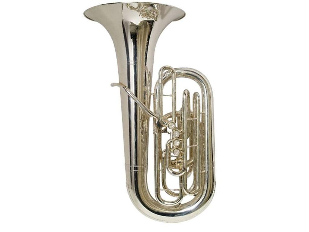 Tuba E-flat Willson 3400S FA-5, Compact Model, Front Action, Silver Plated
