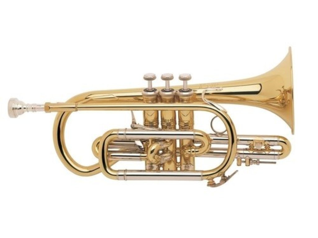 Cornet Bes Bach 184 ML Stradivarius, kort model, lak