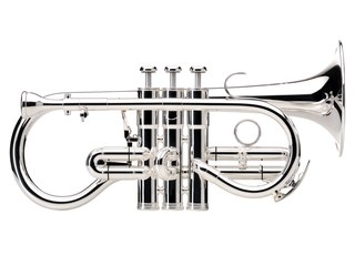 Cornet Es Besson Sovereign BE924, goldbrass beker, verzilverd