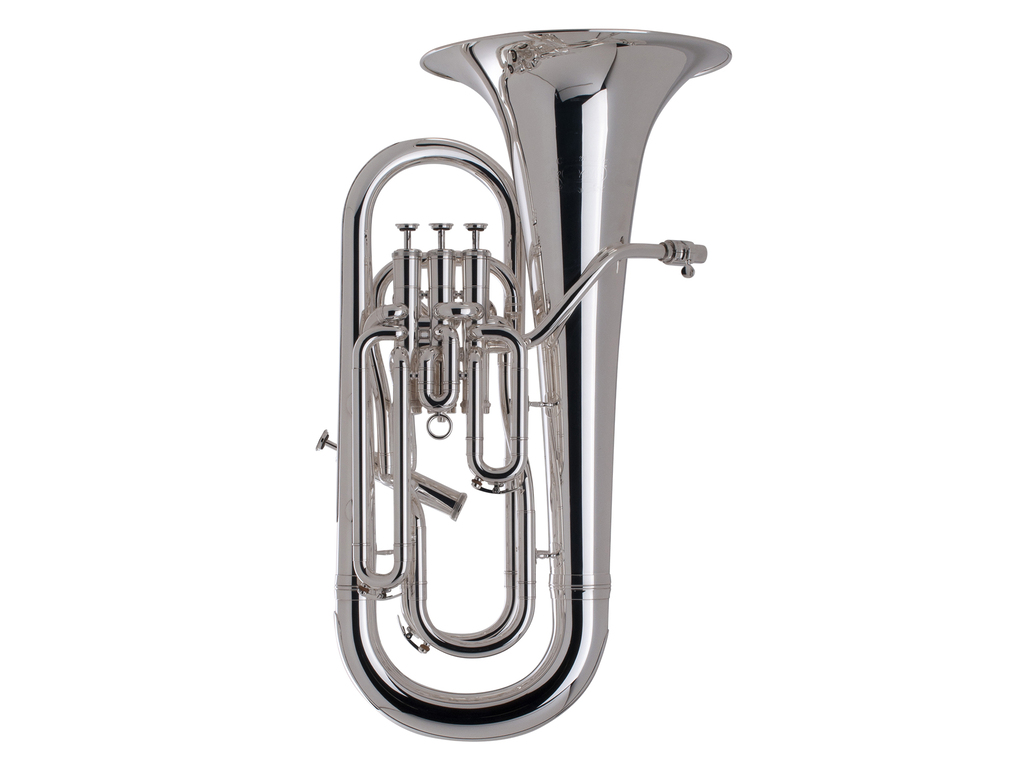 Euphonium Adams Custom Serie E1 Selected Model, Messing beker, dikte 0,60mm, verzilverd