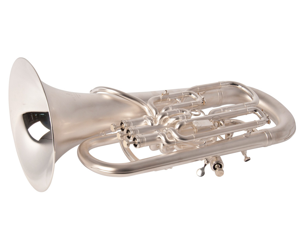 Euphonium Besson BE967, 4 Pistons Limited Anniversary Edition, mate Argenté