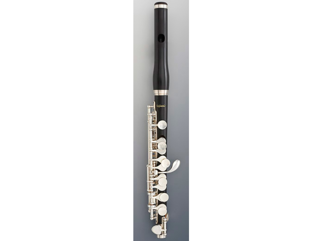 Piccolo flute Bulgheroni 401-R GS, Grenadilla, Silver Plated mech, High G#, waved embouchure