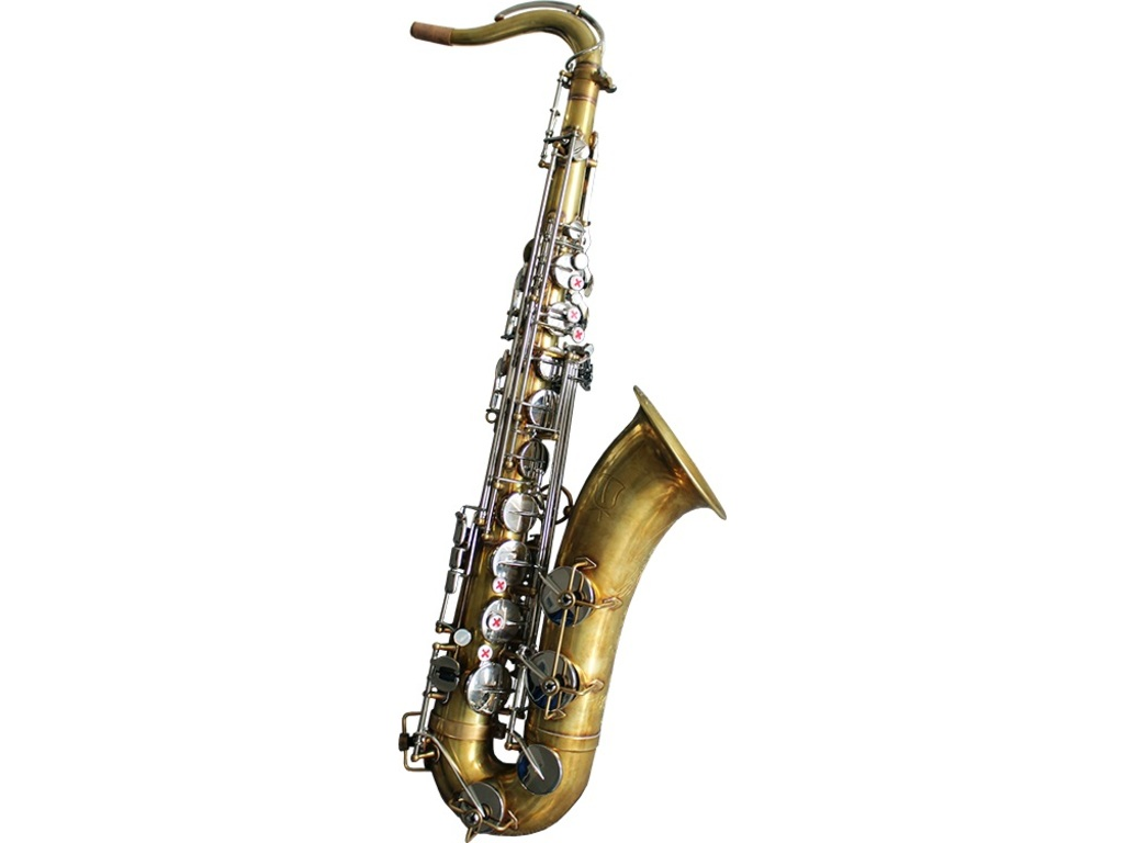Saxofoon Tenor Blue Rose Bad Boy Brass Body, Zilver Nikkel Kleppen