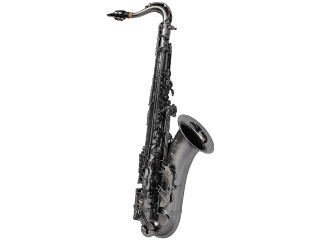 Saxofoon Tenor Cannonball, T5-Raven B-Ice-B black nickel plated body en kleppen, 2 necks, met laser gravure