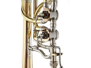 Trombone (Bas) K&H Orchestra Signature, OpenFlow In-Line ventiele, Messing beker 240 mm, excl. koffer