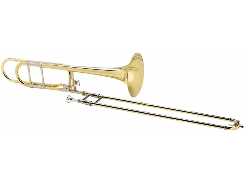 Trombone (Tenor) Courtois 420BOR Legend, kwartcilinder, open wrap, goldbrass beker, lak