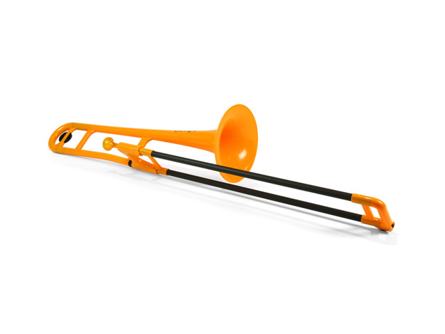 Trombone (Tenor) Jiggs pBone, Plastic Trombone, orange, including Handy gigbag
