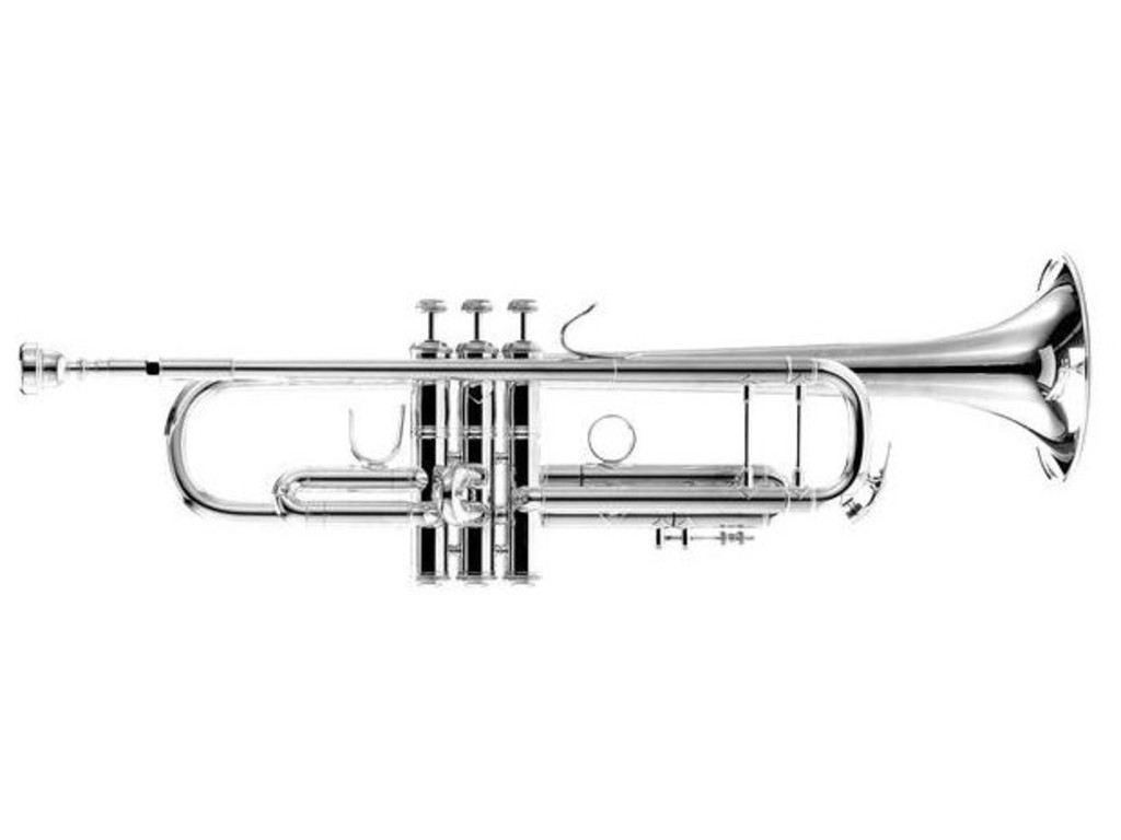 "Trompet Bes Vincent Bach 180S-37R, Stradivarius, ML boring, 37"", sterling silver beker, zilver"