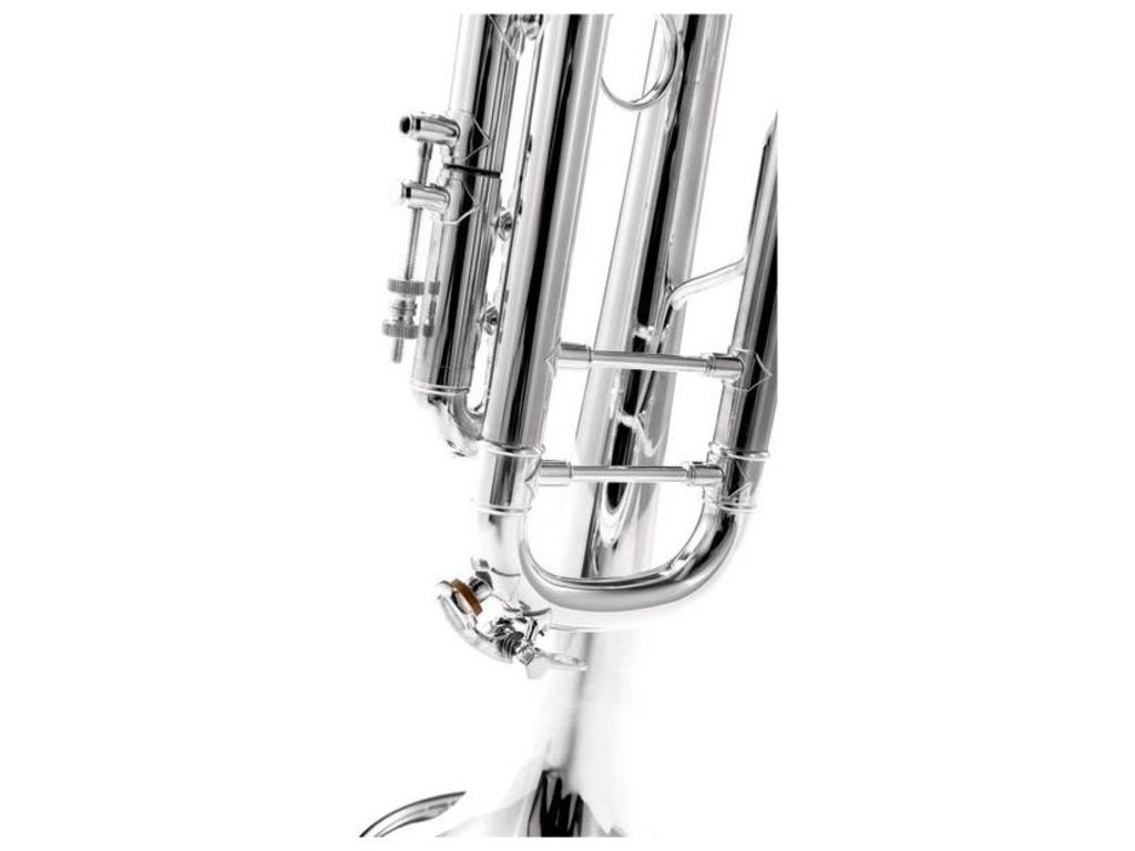 "Trumpet Bb Vincent Bach 180S-37, Stradivarius, ML Bore, 37"" Bell, Silver"