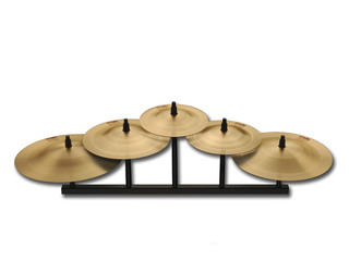 Bell Cymbal Paiste CY0001069109, 2002 Serie, Percussive Bell Chime, 5 Stuks Set, inclusief houder