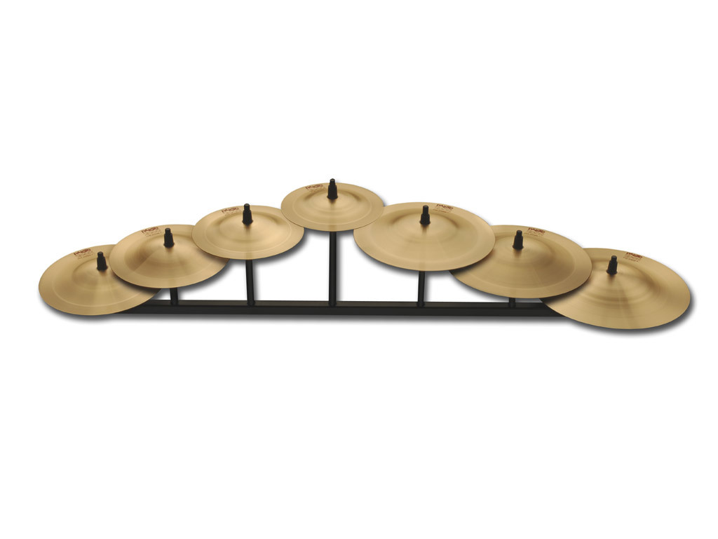 Bell Cymbal Paiste CY0001069108, 2002 Serie, Percussive Bell Chime, 5 Stuks Set, inclusief houder