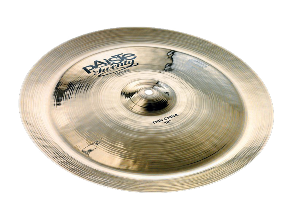 "Cymbal China Paiste twenty custom 18"" Thin china"