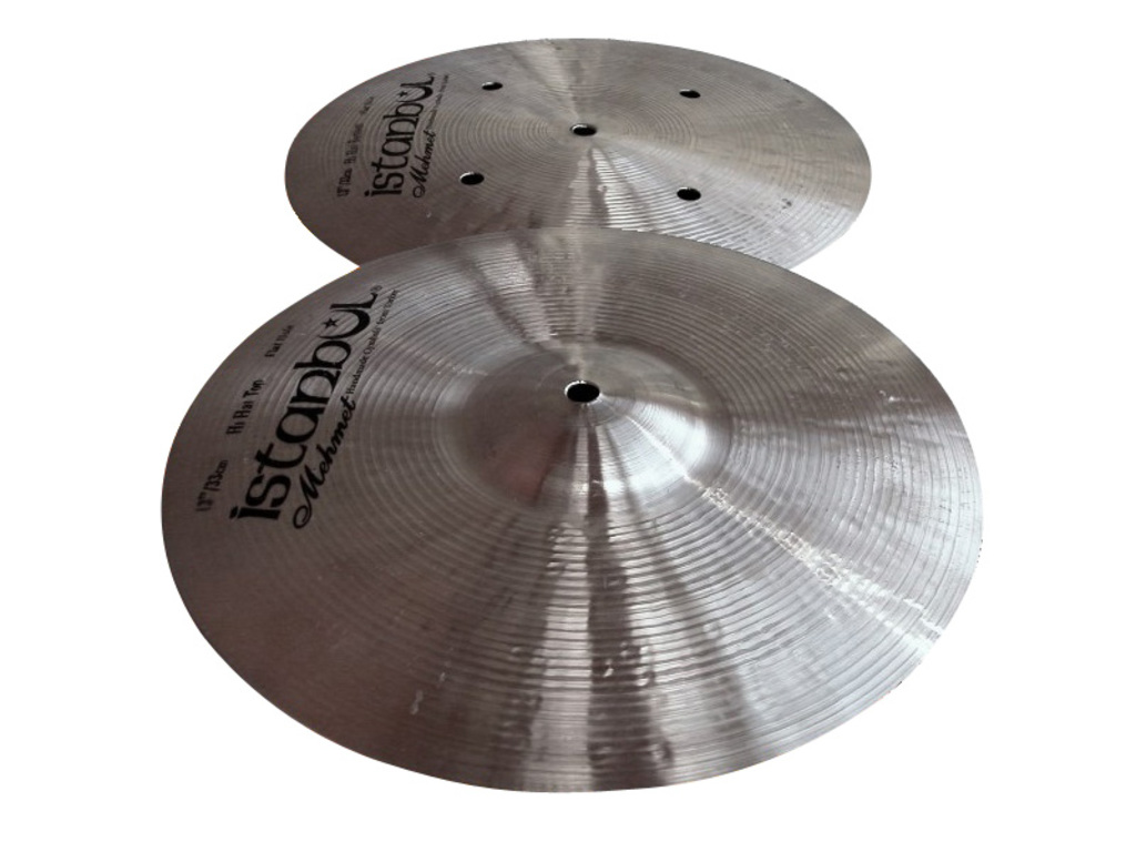 Hi-hat Cymbal Istanbul Mehmet HHFH14, Traditional Flat Hole Bottom, 14""