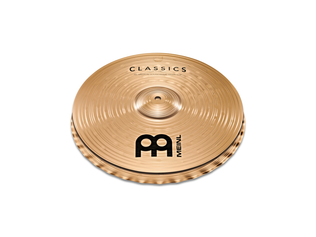 Hi-hat Cymbal Meinl C14PSW, Classics Serie, Powerful Soundwave, 14""