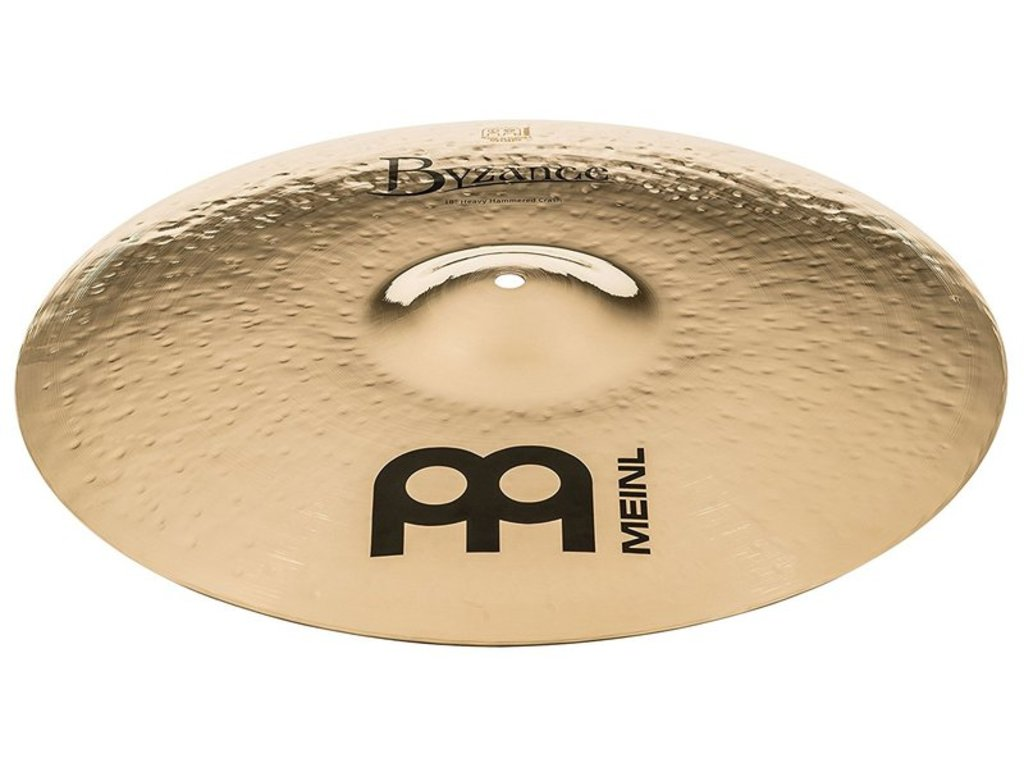 Crash Cymbal Meinl B18HHC-B, Byzance Serie, Brilliant, Heavy Hammered, 18""