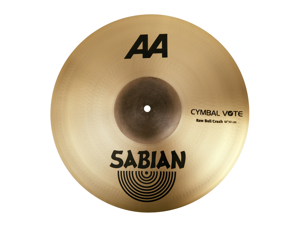 Crash Cymbal Sabian 2180772, AA Serie, Raw Bell, 18""