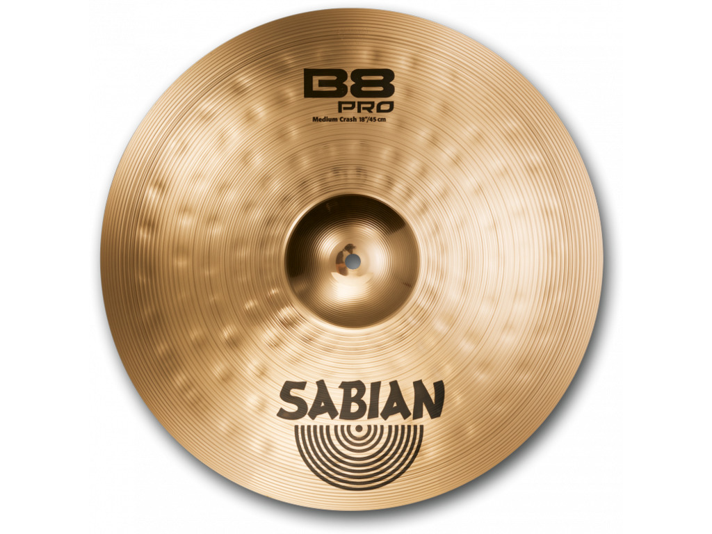 Crash Cymbal Sabian 31808B, B8 Pro Serie, Medium, 18""