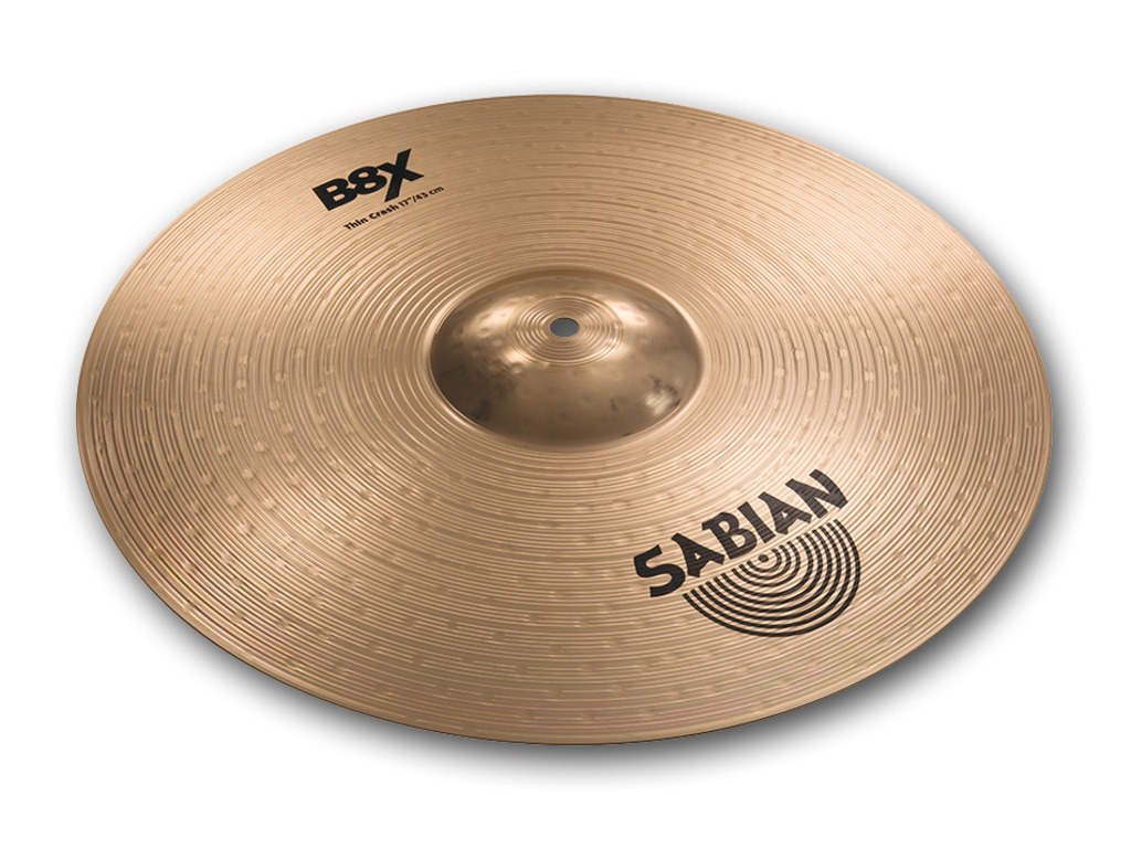 Crash Cymbal Sabian 41706X, B8X Serie, Thin, 17""
