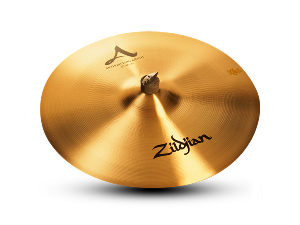 Crash Cymbal Zildjian A0233, A Zildjian, Medium Thin Crash, 19""