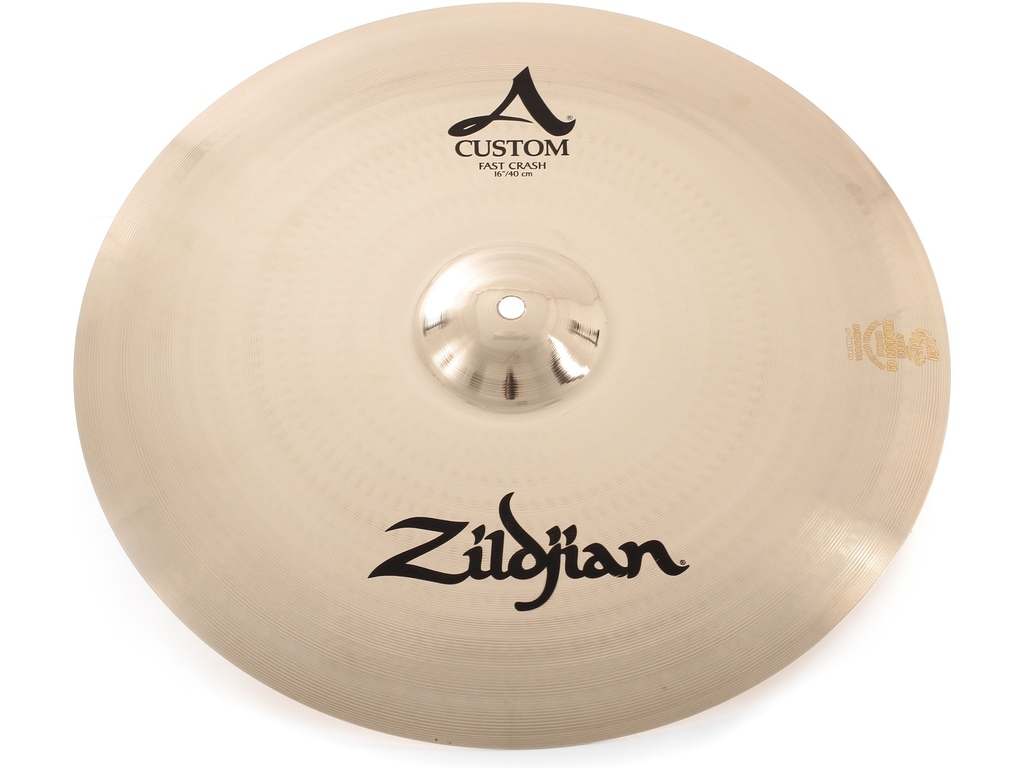 Crash Cymbal Zildjian A20532, A Custom, Fast Crash, 16""