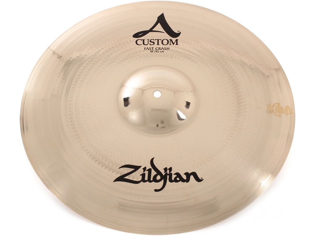 Crash Cymbal Zildjian A20534, A Custom, Fast Crash, 18""