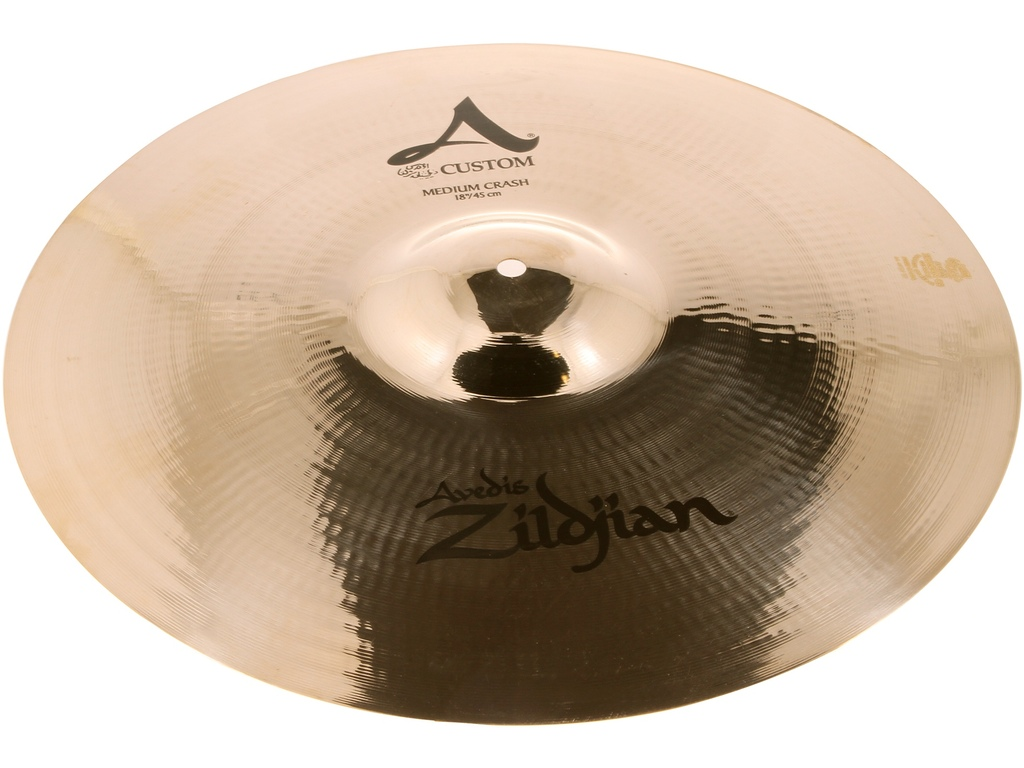 Crash Cymbal Zildjian A20828, A Custom, Medium Crash, 18""