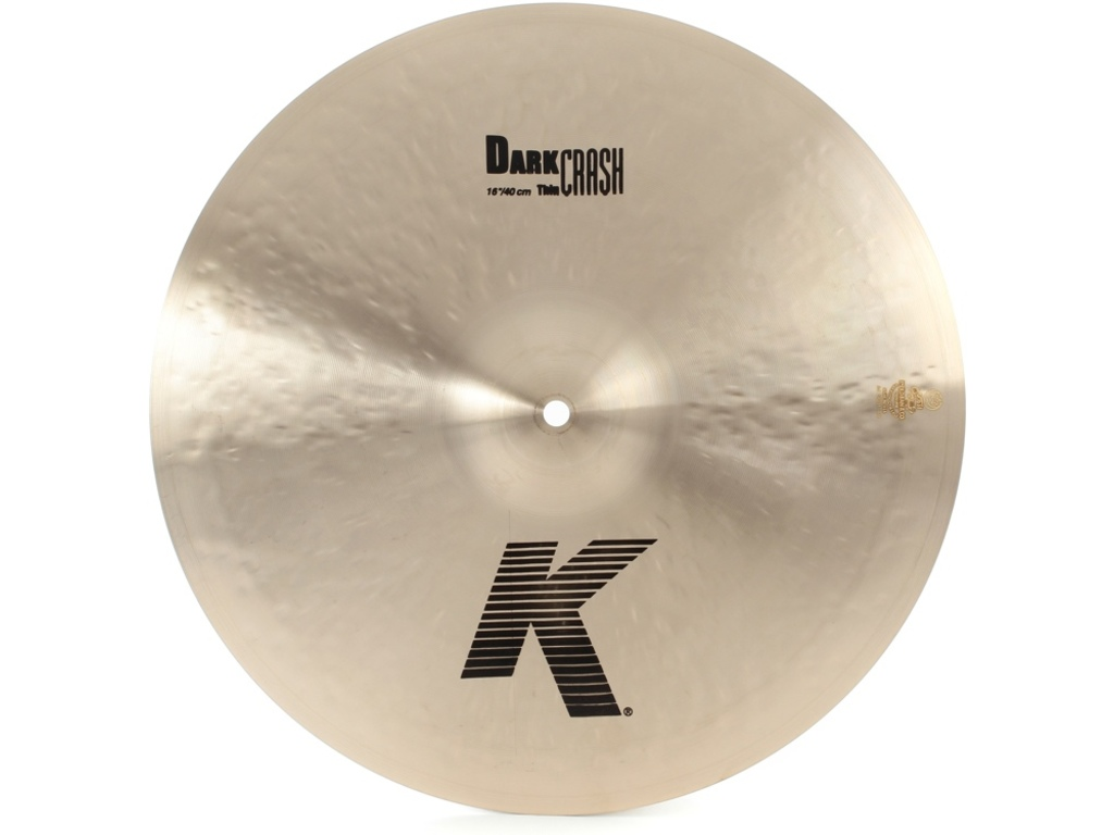 Crash Cymbal Zildjian K0913, K Dark Crash Medium-Thin, 16""