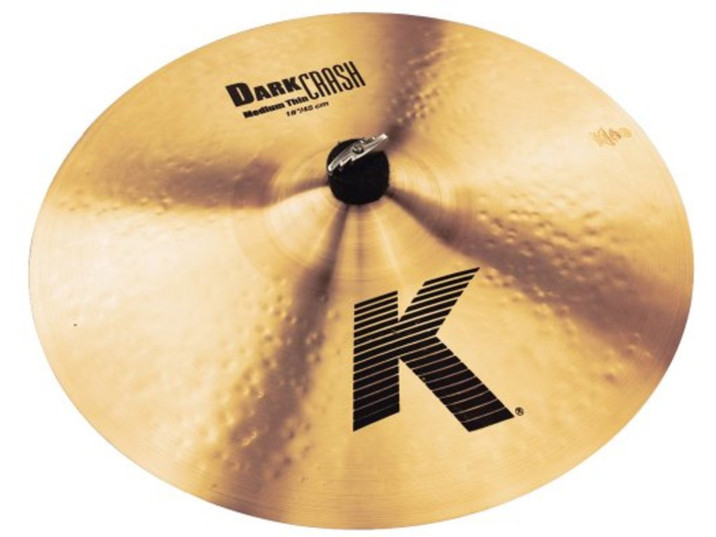 Crash Cymbal Zildjian K0915, K Dark Crash Medium-Thin, 18""