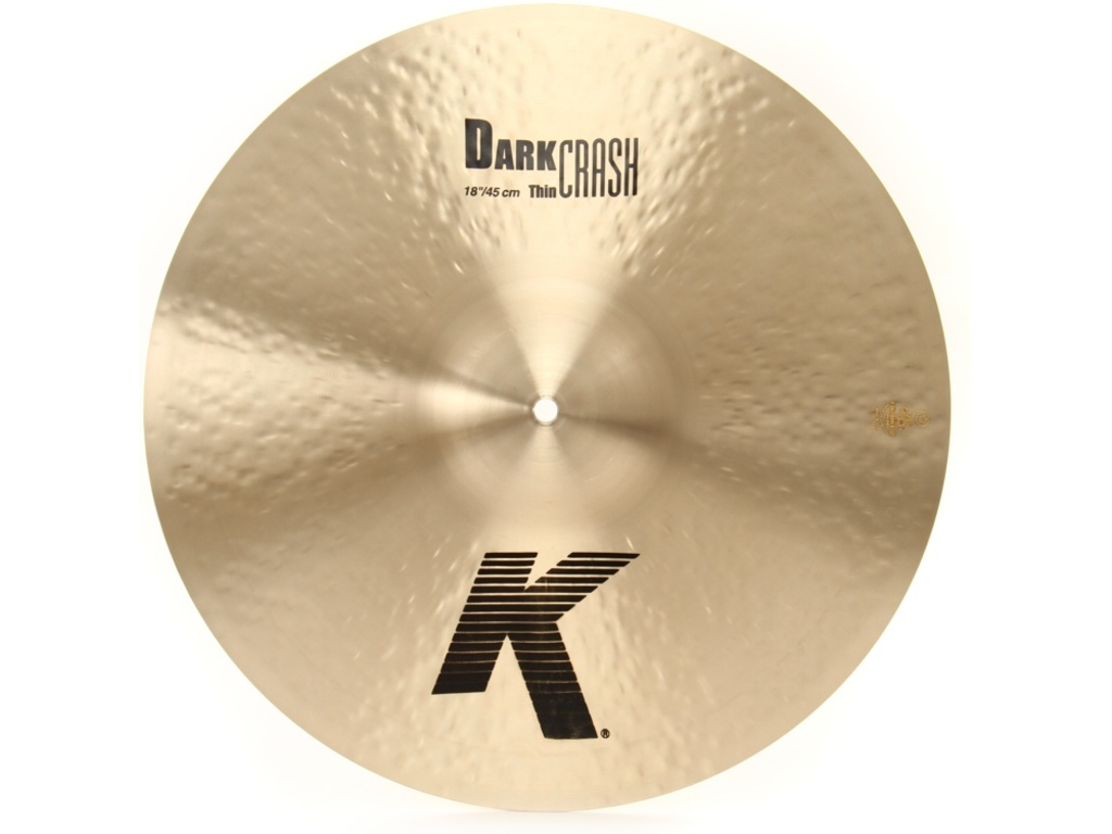 Crash Cymbal Zildjian K0904, K Dark Crash Thin, 18""