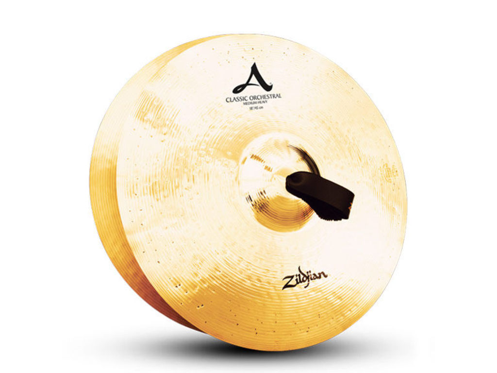 "Orchestra Cymbal Zildjian A0769, A Zildjian, Classic Orchestral Selection, Medium Heavy, 20"" ( without Cymbal straps)"