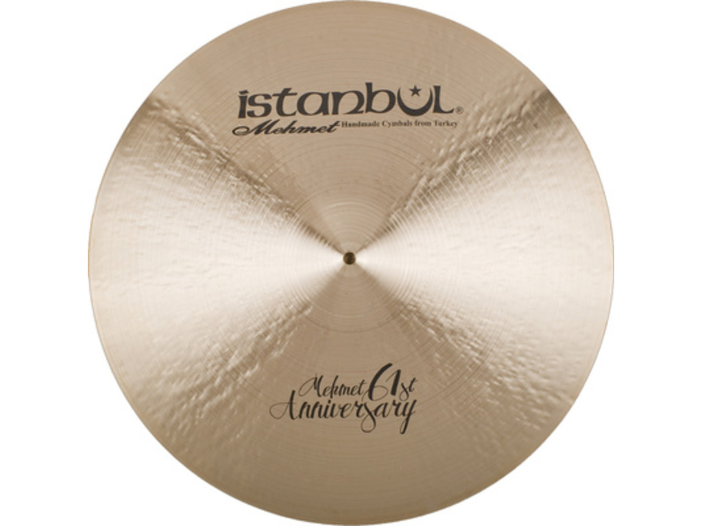 Ride Cymbal Istanbul Mehmet MT-AN-CLSZ22, Signature 61ST Anniversary, Classic, Ride met Sizzle, 22""