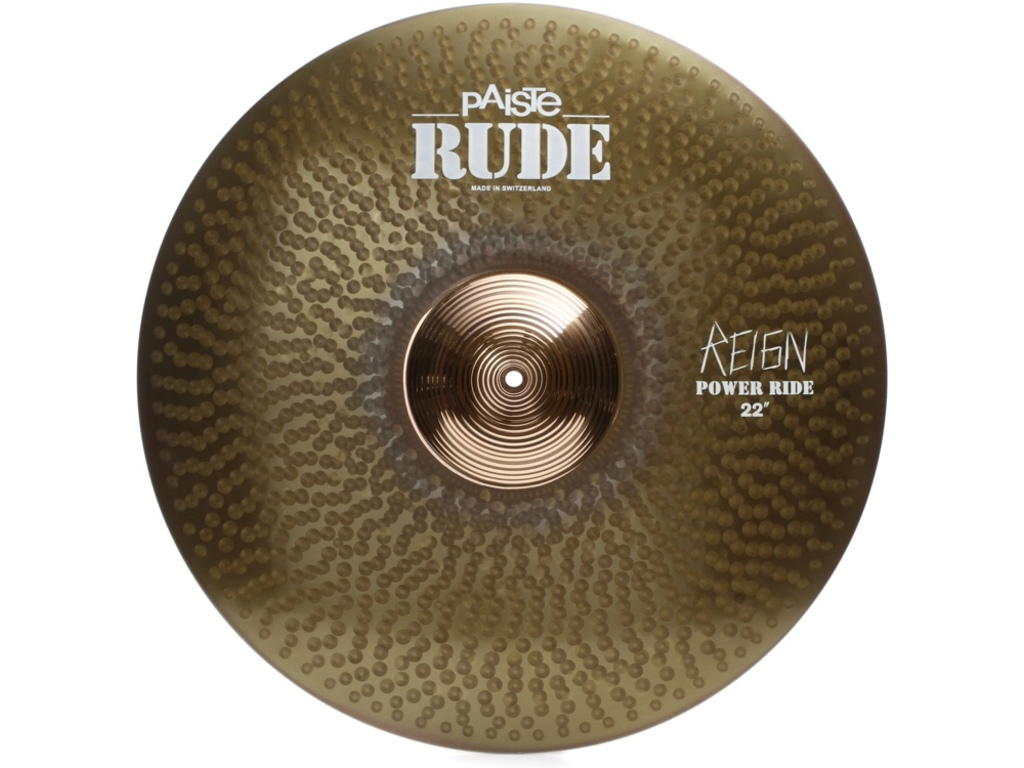 "Ride Cymbal Paiste Rude, power ride ""the Reign"", 22"""