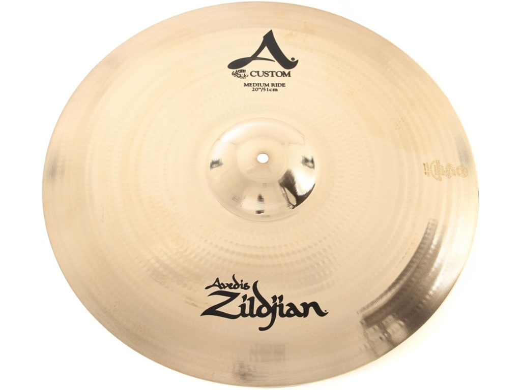 Ride Cymbal Zildjian A20519, A Custom, Medium Ride, 20""