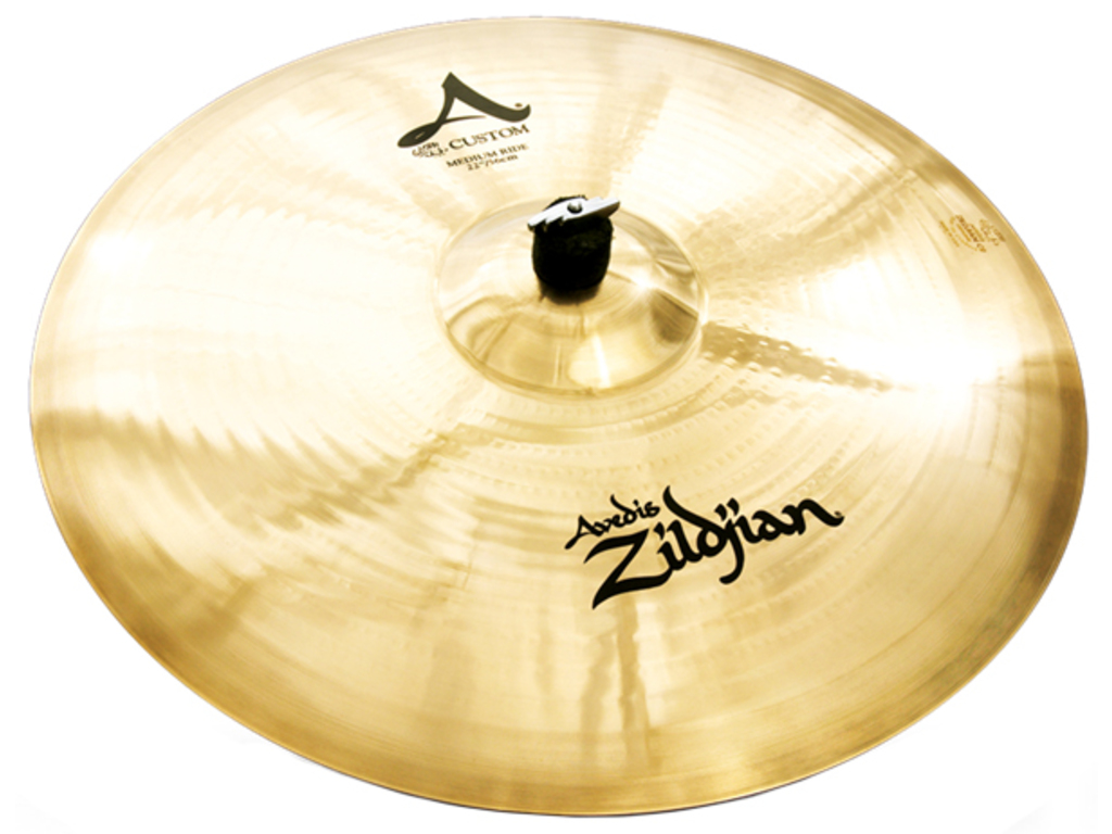 Ride Cymbal Zildjian A20523, A Custom, Medium Ride, 22""
