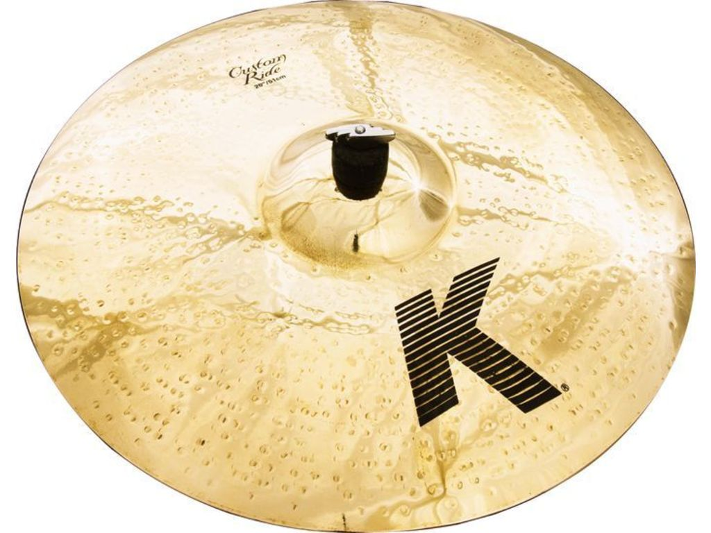 Ride Cymbal Zildjian K0854, K Custom, Medium Ride, 20""