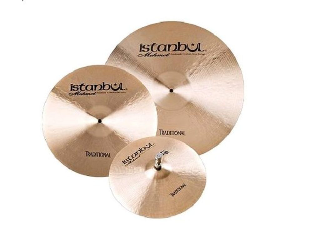 "Cymbal Set Compleet Istanbul Mehmet TR-SET, Traditional set 14"" Hi-hat - 16"" Crash - 20"" Ride"