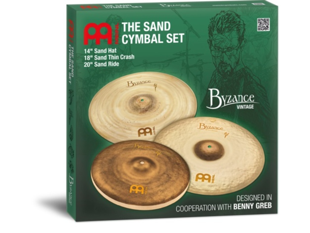 "Cymbal Set Compleet Meinl BV-141820SA, Byzance Serie, Vintage Sand, Benny Greb design, 14"" Hi-hat - 18"" Crash - 20"" Ride"
