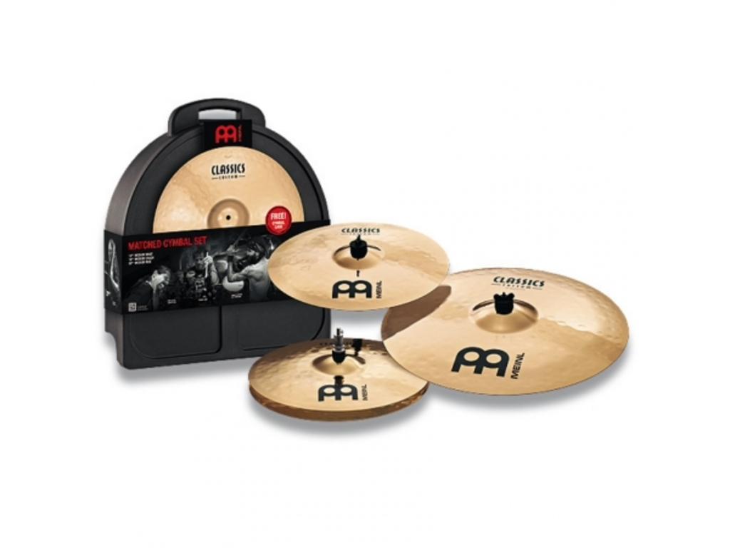 "Cymbal Set Compleet Meinl C141620, Classics Serie, Medium, 14"" Hi-hat - 16"" Crash - 20"" Ride"
