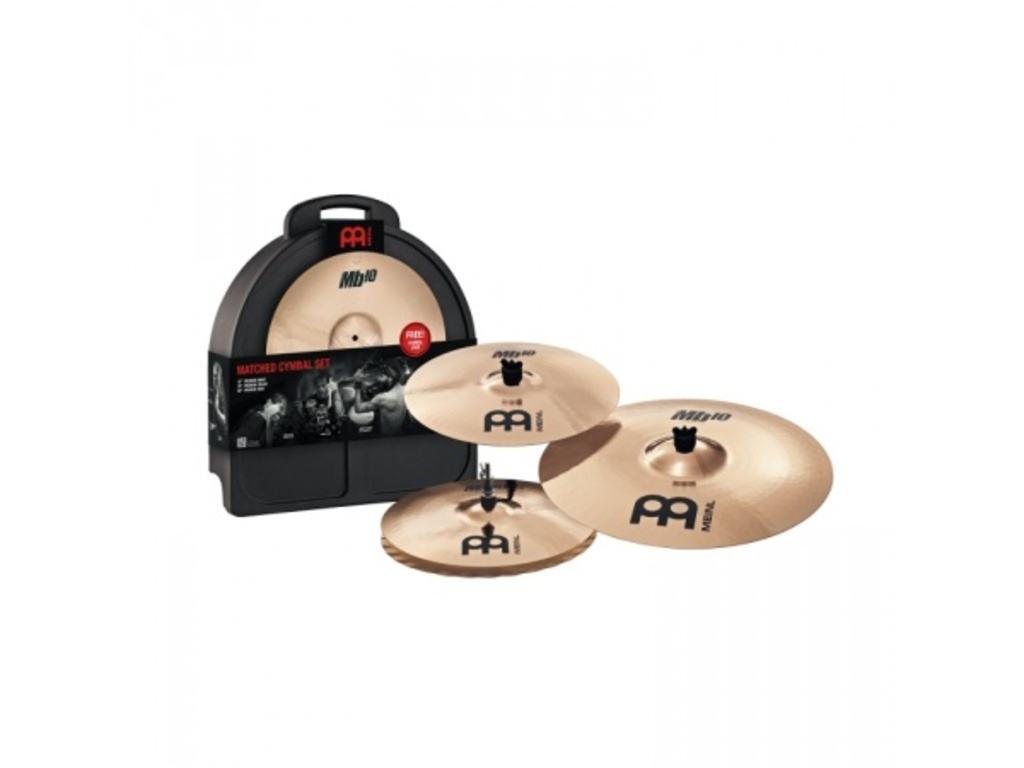 "Cymbal Set Compleet Meinl MB10-141620M, MB10 Serie, 14"" Hi-hat - 16"" Crash - 20"" Ride"