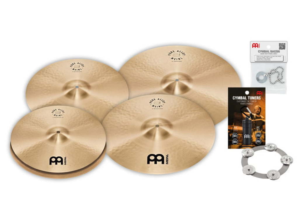 "Cymbal Set Compleet Meinl PA14161820M, Pure Alloy Serie, 14"" Hi-hat - 16"" & 18"" Crash - 20"" Ride"