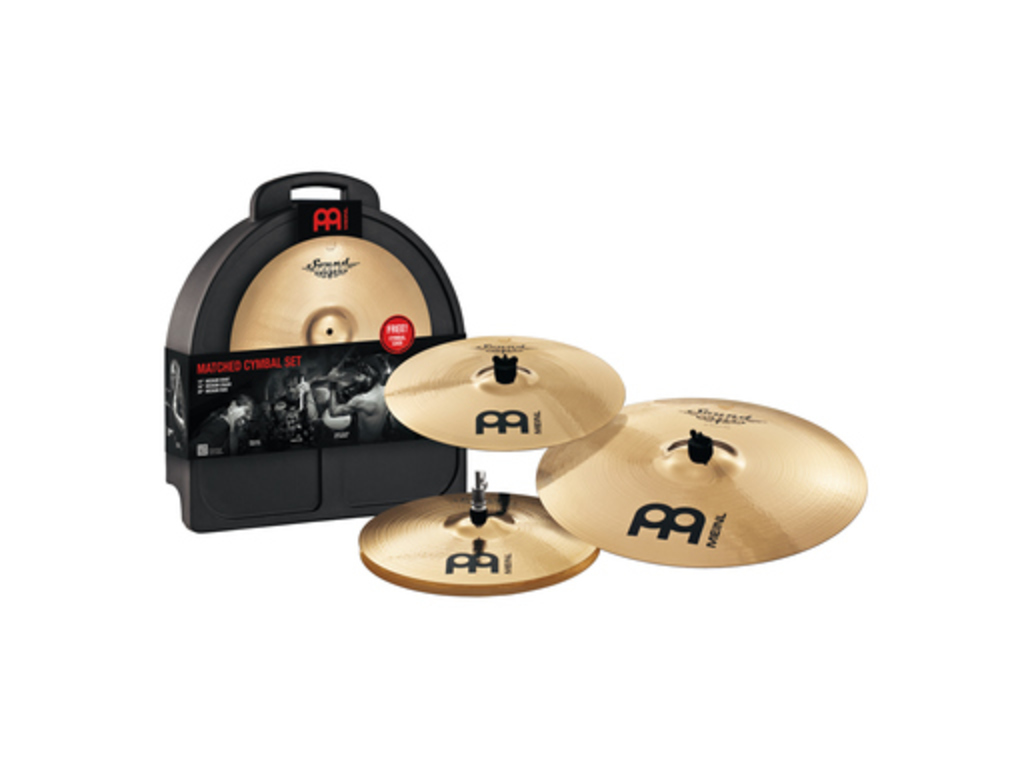 "Cymbal Set Compleet Meinl SC-141620M, Soundcaster Serie, Custom, 14"" Hi-hat - 16"" Crash - 20"" Ride"