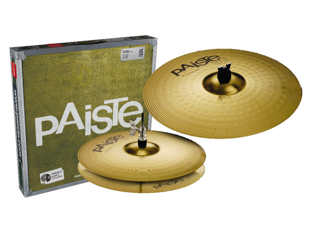 "Cymbal Set Compleet Paiste 101 Brass, Essential Set, 13"" Hi-hat - 18"" Crash/Ride"