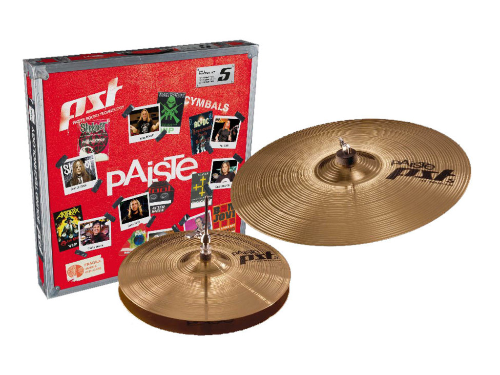 "Cymbal Set Compleet Paiste PST5, Effects Pack, 10"" Splash - 18"" China"