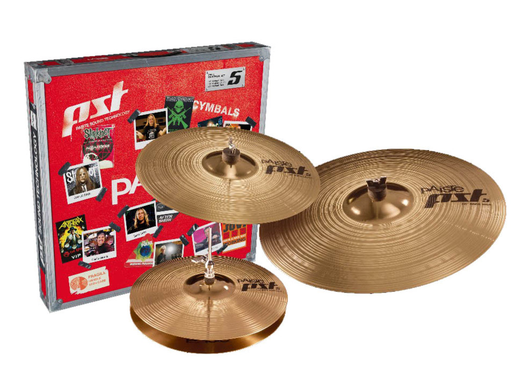 "Cymbal Set Compleet Paiste PST5, Rock Set, 14"" Sound Edge Hi-hat - 16"" Crash - 20"" Ride"