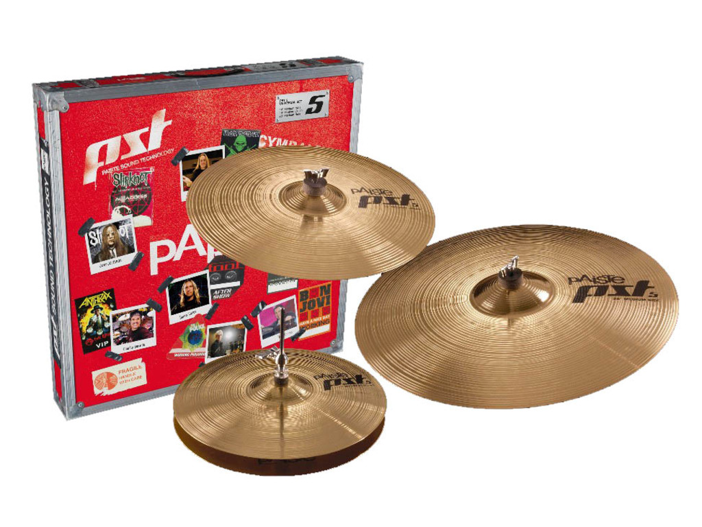 "Cymbal Set Compleet Paiste PST5, Universal Set, Medium, 14"" Hi-hat - 16"" Crash - 20"" Ride"