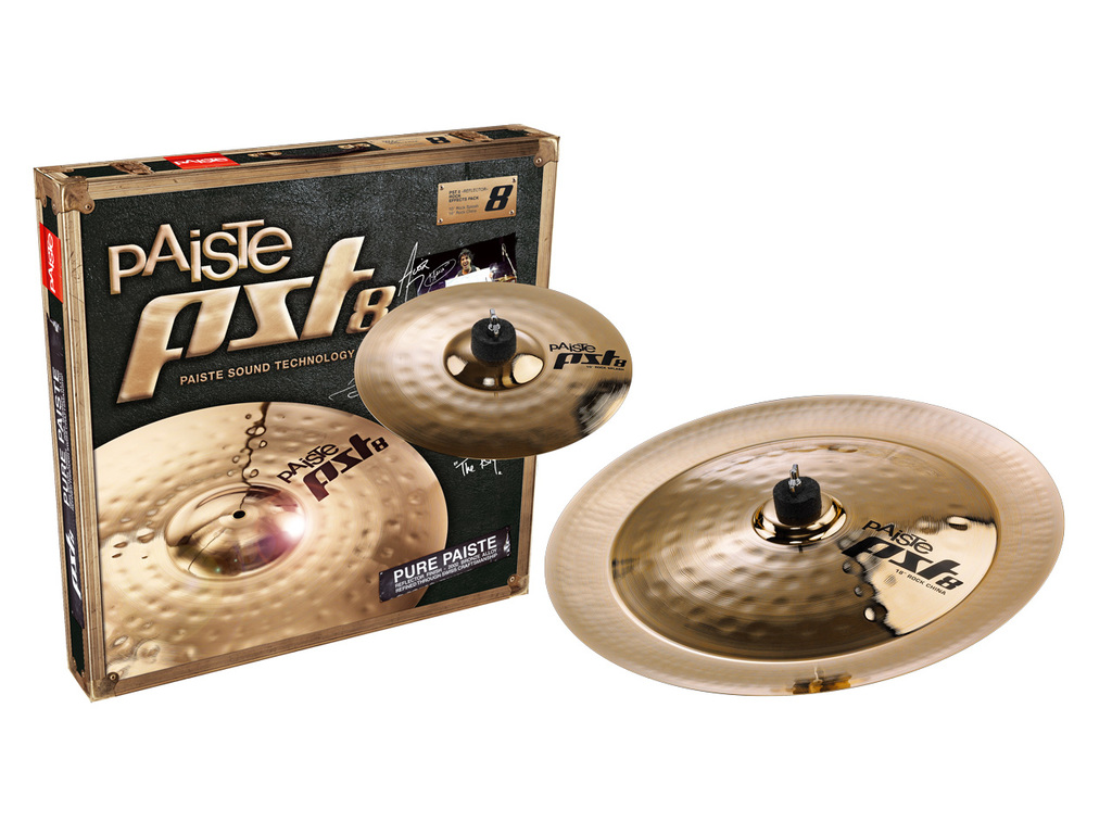 "Cymbal Set Compleet Paiste PST8, Reflector Rock Effects Pack, 10"" Splash - 18"" China"