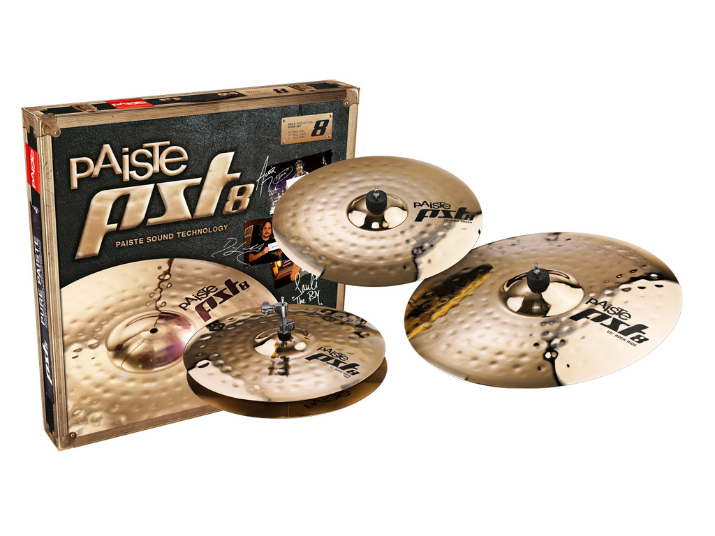 "Cymbal Set Compleet Paiste PST8, Universal Set, Reflector medium 14"" Hi-hat - 16"" Crash - 20"" Ride"