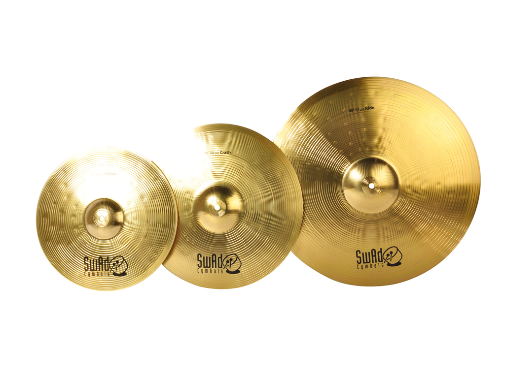 "Cymbal Set Compleet Swad, Complete Set 14"" Hi-hat - 16"" Crash - 20"" Ride"