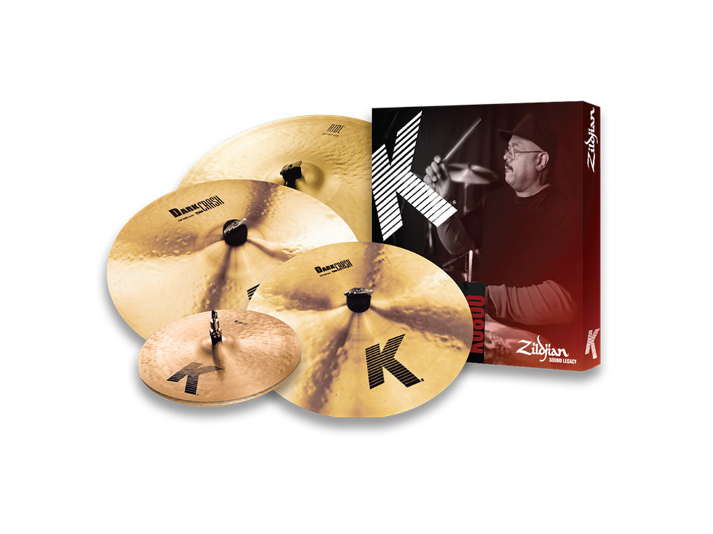"Cymbal Set Compleet Zildjian K0800, K serie, 14"" Hi-hat - 16"" en 18"" Dark Thin Crash - 20"" Ride"